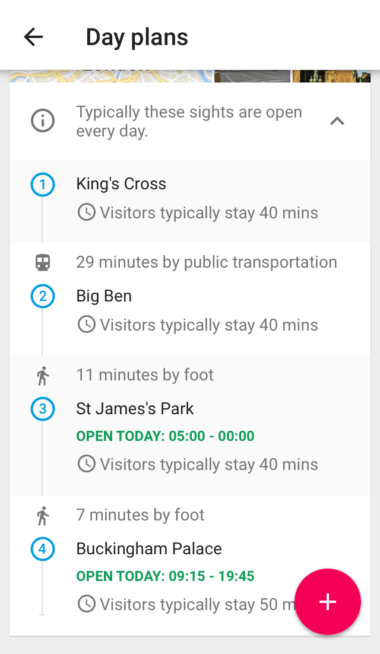 Google Trips London Day Plan