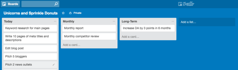trello small wins