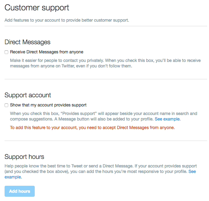 Twitter Customer Support