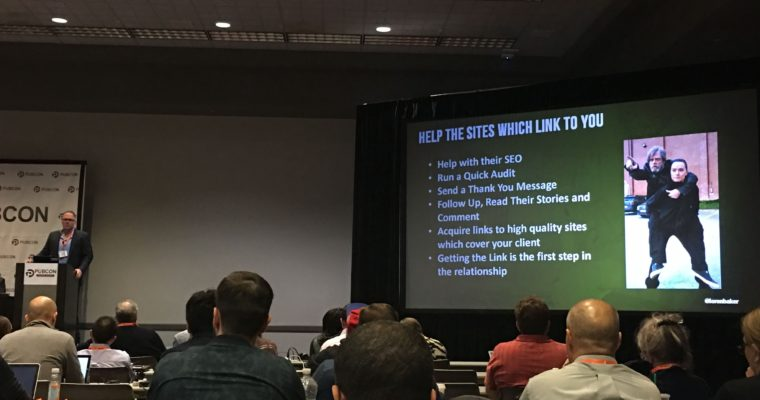 #Pubcon Day 1: Tech Issues & Link Building Tips