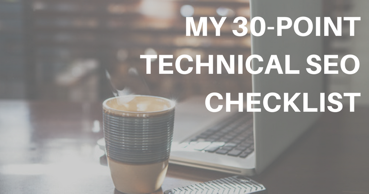 30 point technical seo checklist