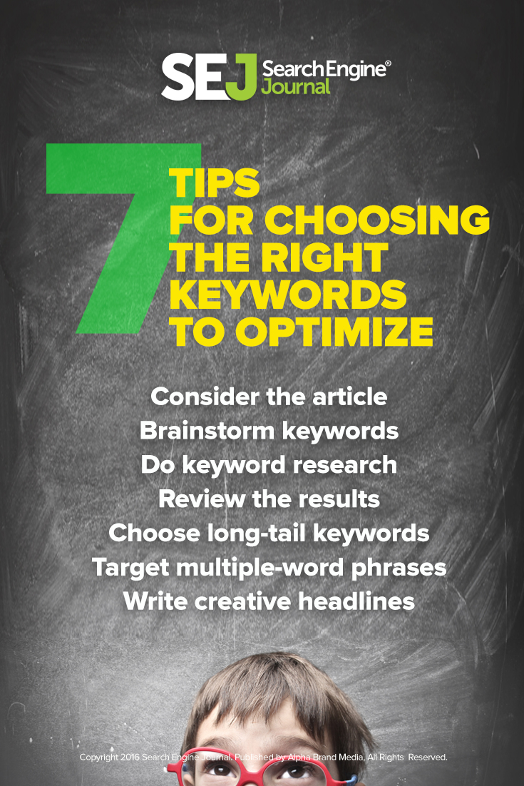 Tips for Choosing the Right Keywords to Optimize For