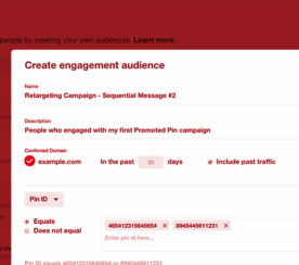 Pinterest Adds Pin Engagement & Website Retargeting