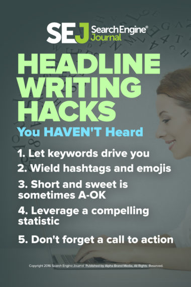 Pinterest Image: Headline Writing Hacks You Haven't Heard