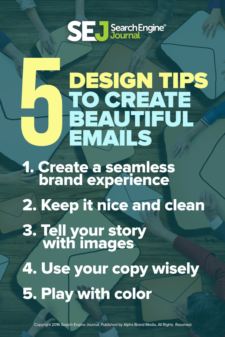 5 Design Tips to Create Beautiful Emails