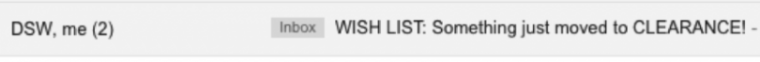 Creative subject line