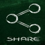 illustration of the Share symbol used in websites and social media