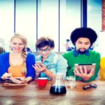 Diverse People Digital Devices Wireless Communication Concept