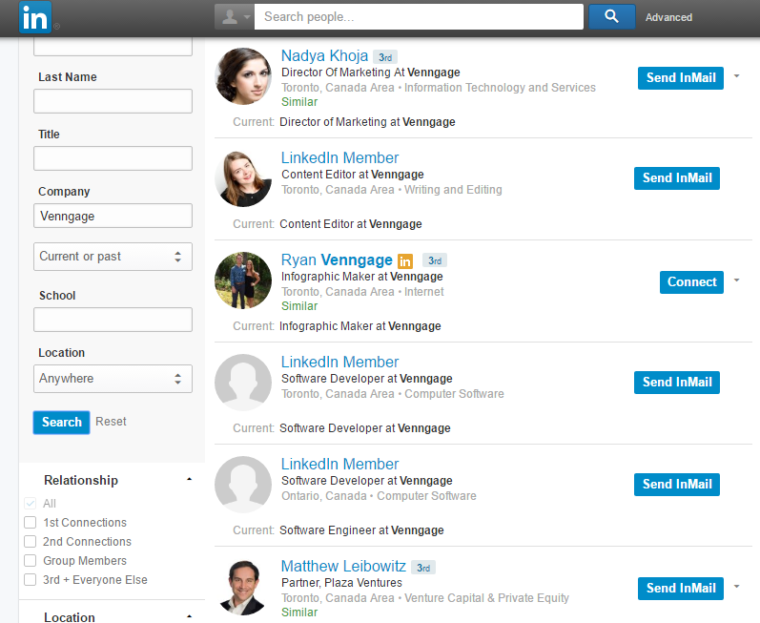 Screenshot from Linkedin page