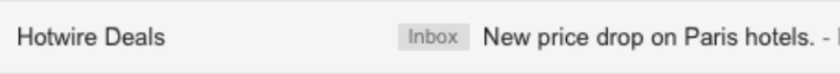 Personalized subject line