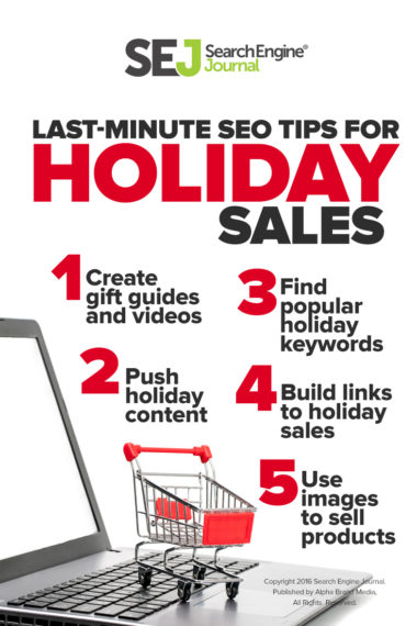 Last-Minute SEO Tips for Holiday Sales
