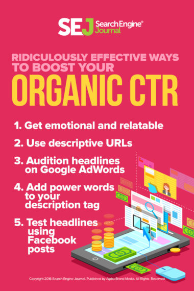 Ridiculously Effective Ways to Boost Your Organic CTR