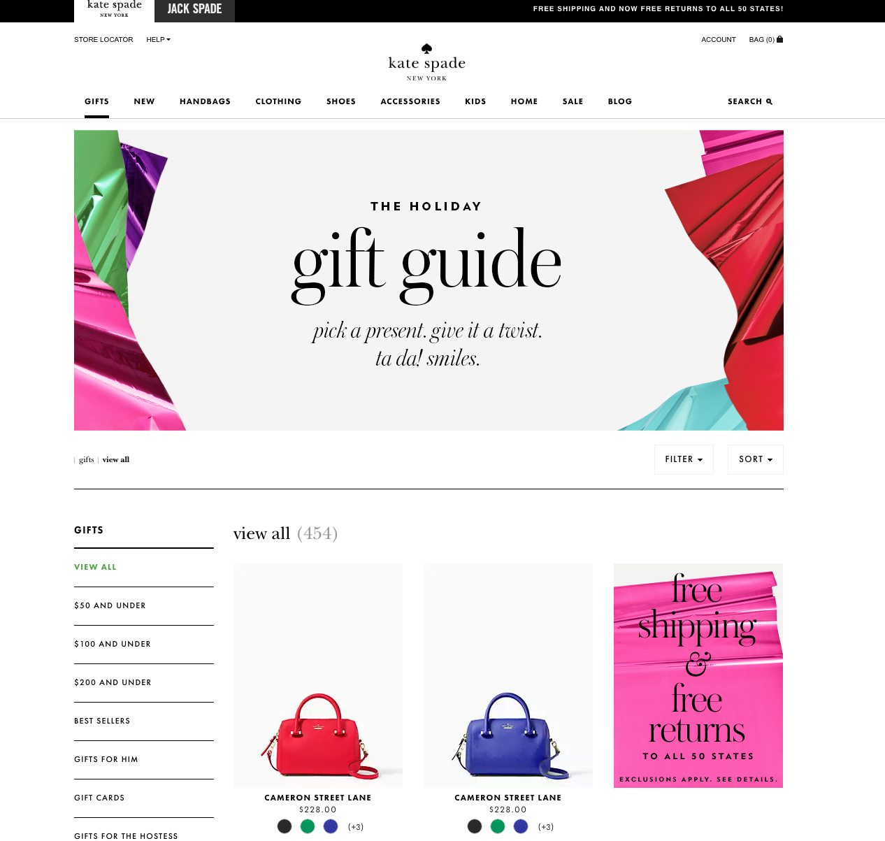 Kate Spade holiday gift guide