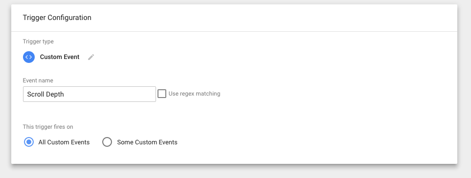 GTM custom events scroll depth