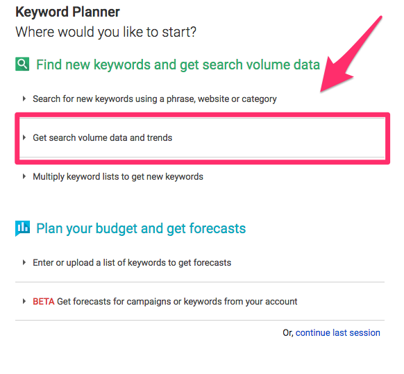 google keyword search and google analytics