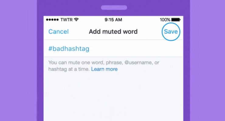Twitter Lets Users Block Keywords, Hashtags, Conversations