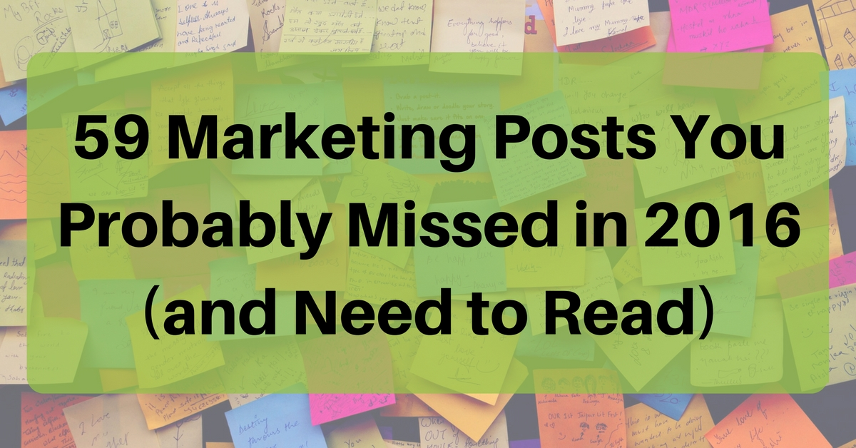 59 Marketing Posts You Probably Missed in 2016 (and Need to Read) by @seo_travel