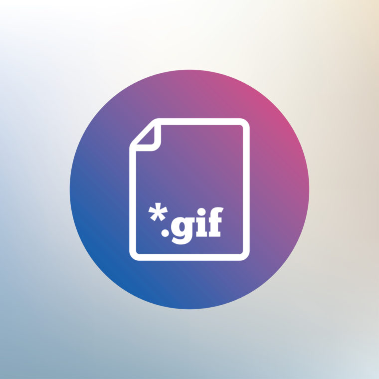 File GIF sign icon. Download image file symbol. Icon on blurred background. Vector