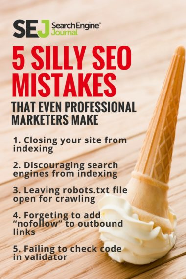 Pinterest Image - 5 Silly SEO Mistakes That Even Professional Marketers Make
