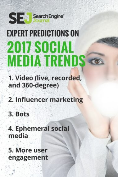 Pinterest Image - Expert Predictions on 2017 Social Media Trends