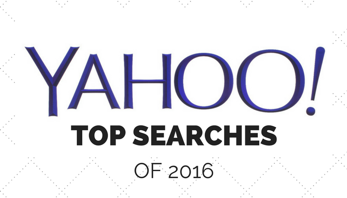 Yahoo's Top Searches of 2016 Revealed, Google Doesn't Make Top 10 Companies