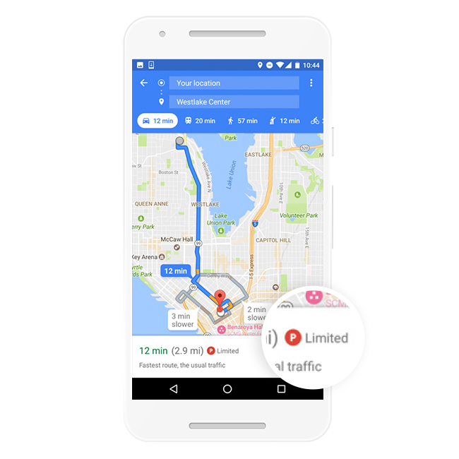 Google Maps on Android Now Shows How Difficult it is to Find Parking