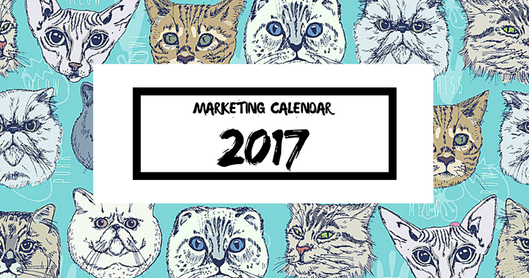 2017 marketing calendar a free template to get started