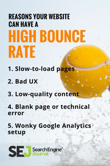 Pinterest Graphic: Reasons Your Website Can Have a High Bounce Rate