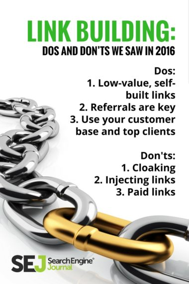 Pinterest Image: Link Building Dos and Don'ts We Saw in 2016