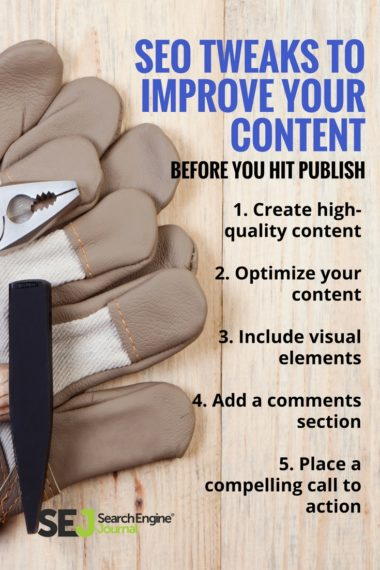 Pinterest Image: SEO Tweaks to Improve Your Content Before You Hit Publish