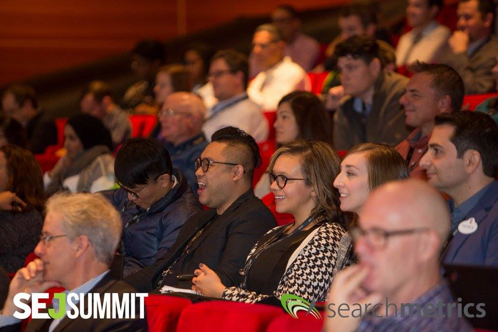 Image of audience laughing during session at SEJ Summit 2016 New York City