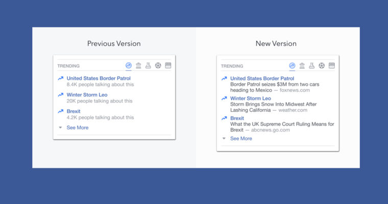 3 Changes Coming to Facebook Trending Stories