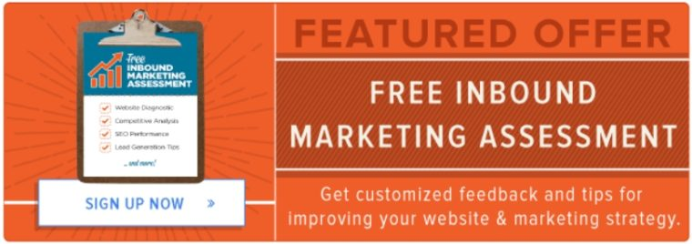 CTA offer example at HubSpot blog