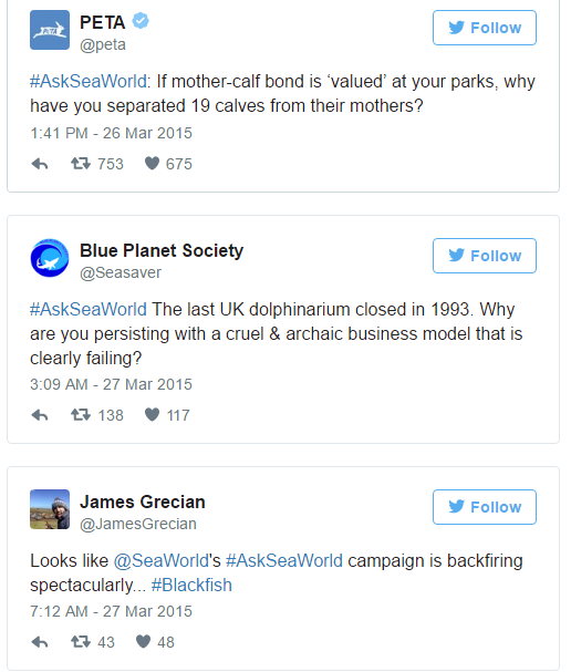 AskSeaWorld campaign on twitter by SeaWorld