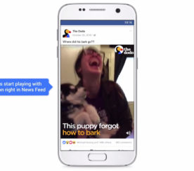 Facebook Turns on Video Sound in News Feed