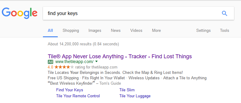 Google AdWords Ad Example