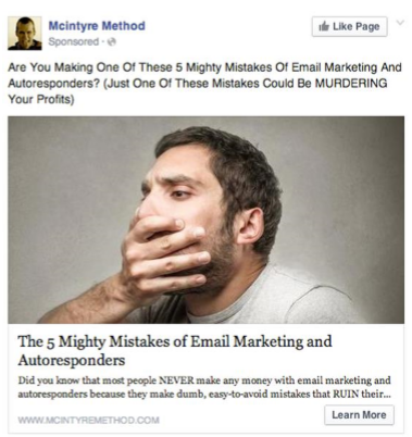 Mcintyre Method Facebook Ad