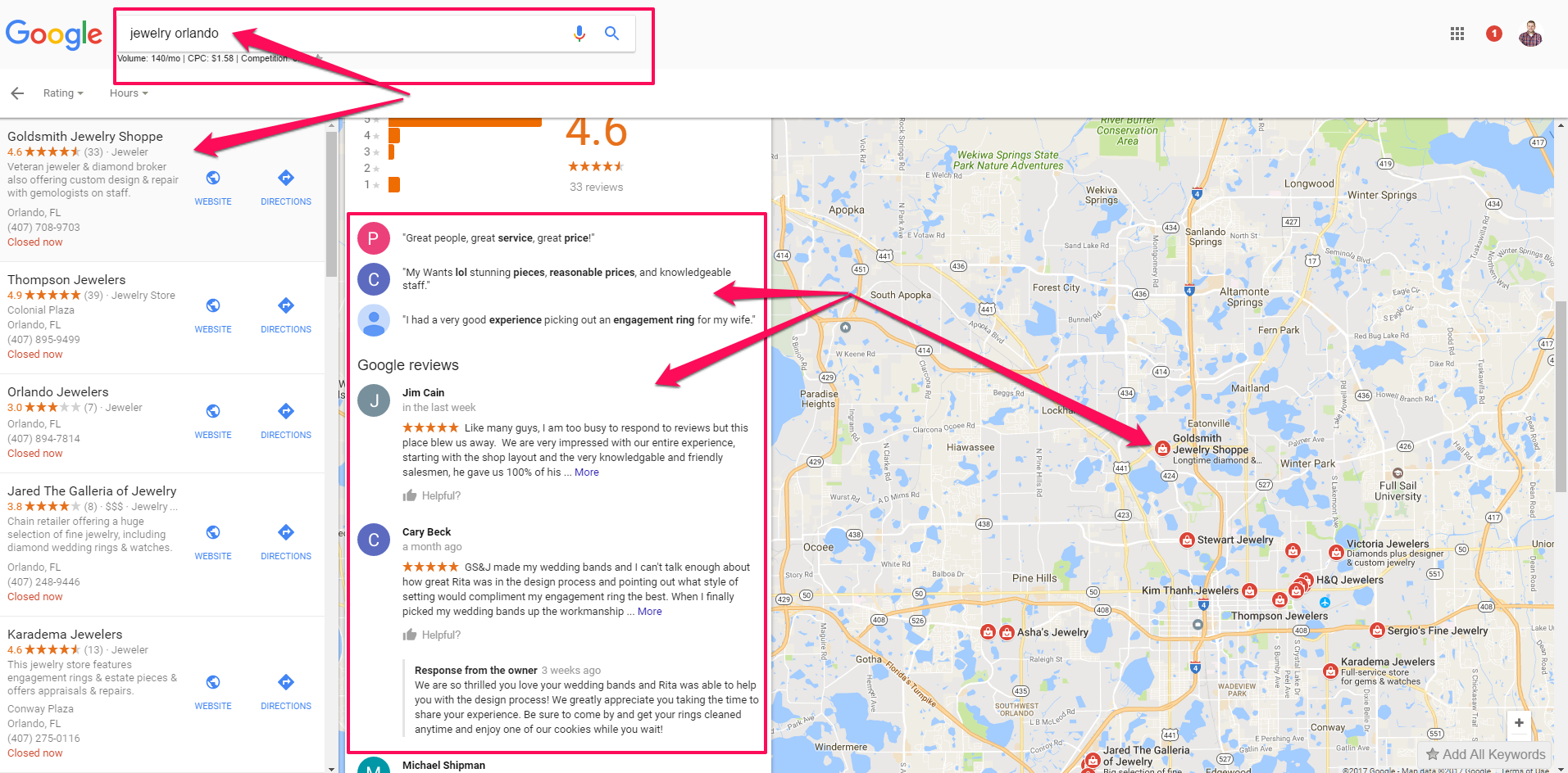 customer reviews local seo strategy