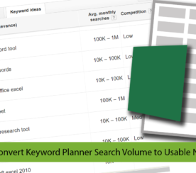3 Excel Formulas for Google's Keyword Planner Search Volume Numbers