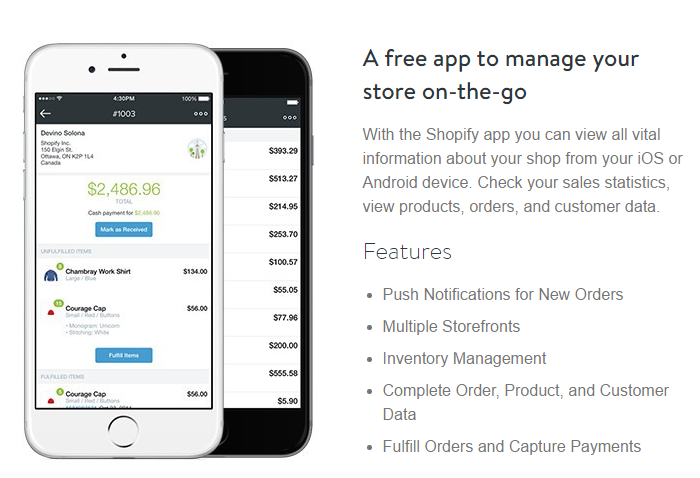 Free app to manage your online store