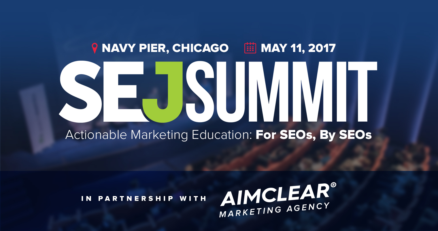 Aimclear Partners with SEJ Summit Chicago 2017