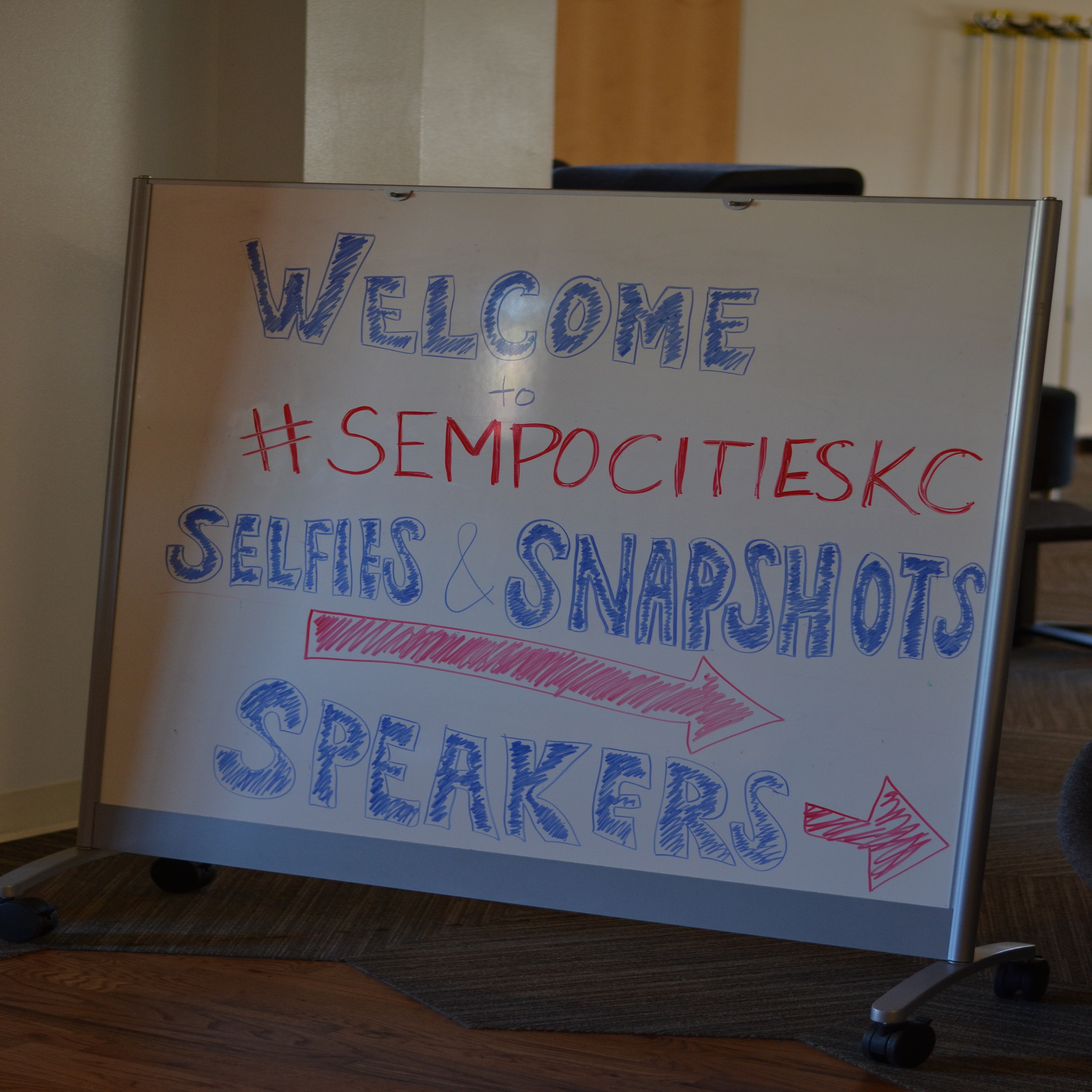 KC Search Conference Welcome Sign
