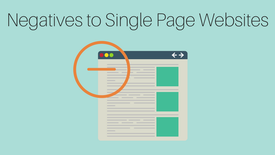 Negatives to Single Page Websites