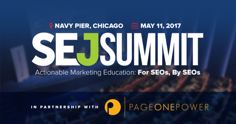 Page One Power Partners with SEJ Summit Chicago 2017