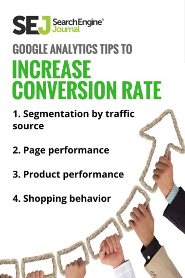 Pinterest Image: Google Analytics Tips to Increase Conversion Rate