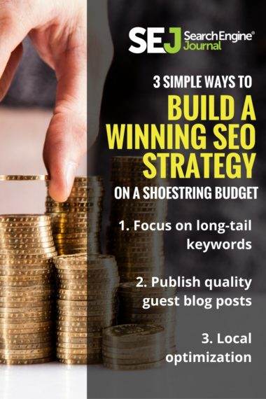 Pinterest Image: 3 Simple Ways to Build a Winning SEO Strategy on a Shoestring Budget