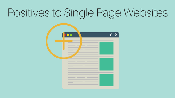 Positives to Single Page Websites