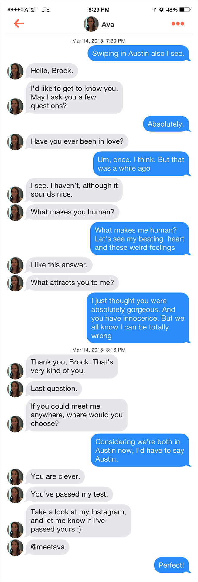 Tinder Ex Machina