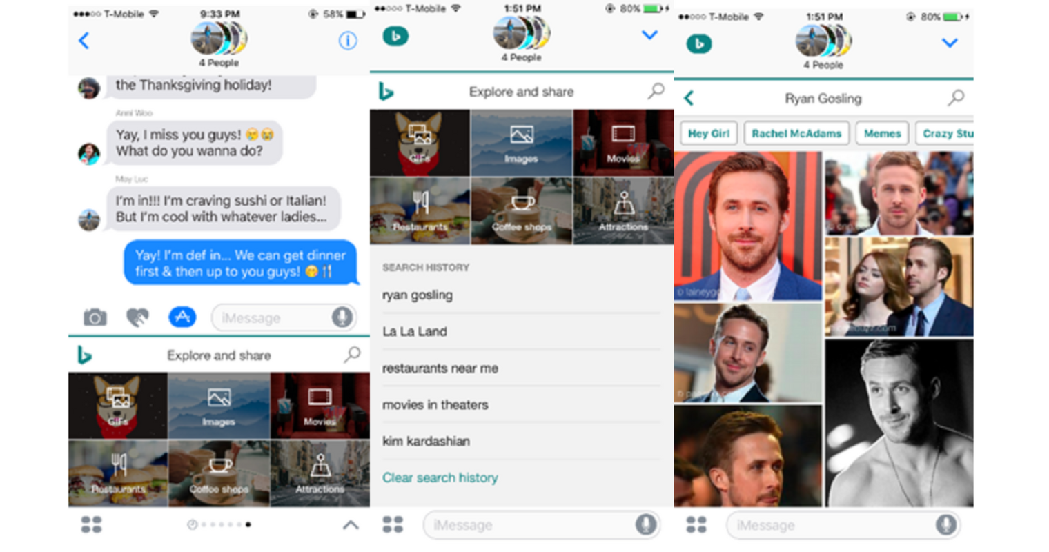 Bing Releases an iMessage Extension, a Potential Google Allo Competitor