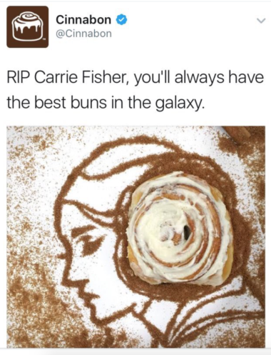Cinnabon Carrie Fisher Share